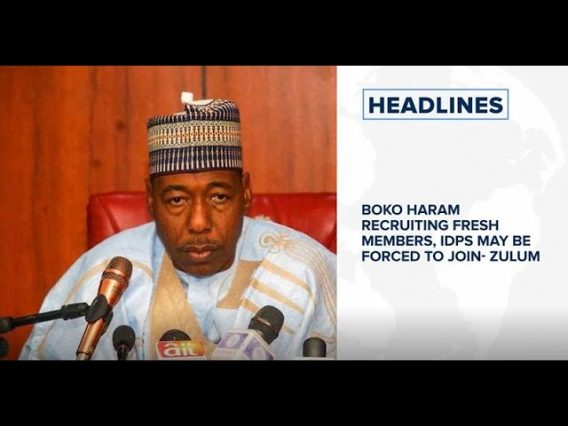 Boko Haram recruiting fresh members, targeting IDPs- Gov. Zulum, Acting UNILAG VC Soyombo steps down